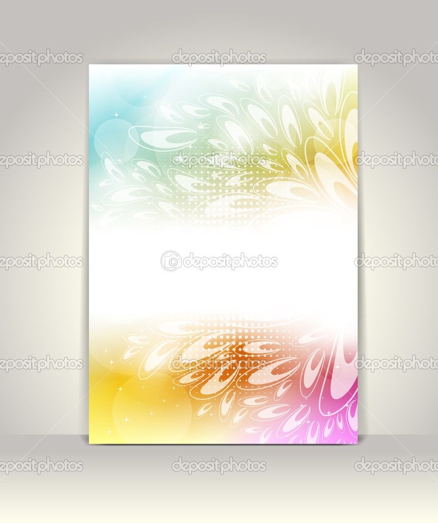 Business brochure template, abstract colorful design