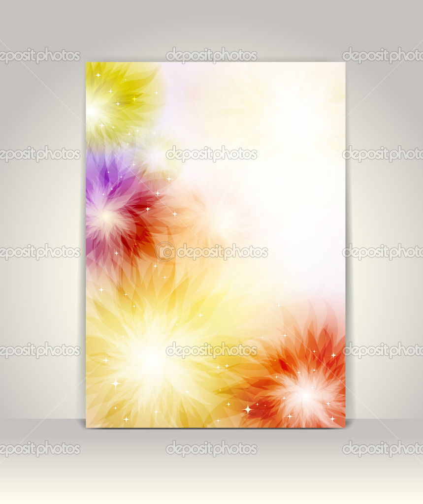 Business Brochure Template Abstract Colorful Design Stock Vector C D Arts 10962312