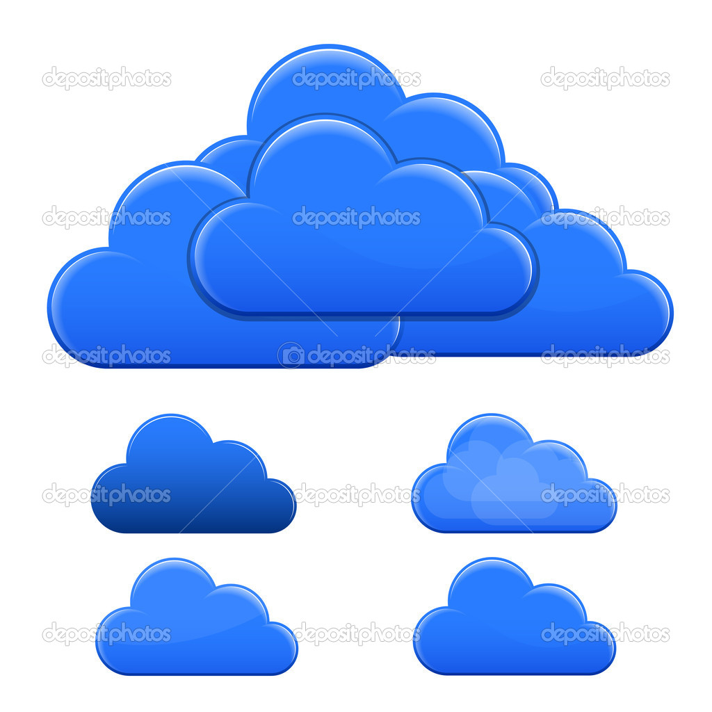 Blue Clouds. Vector Illustration