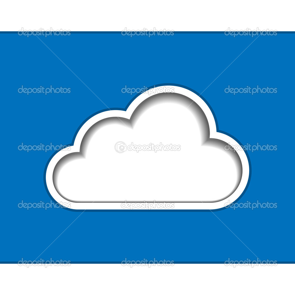 Cloud computing logo template