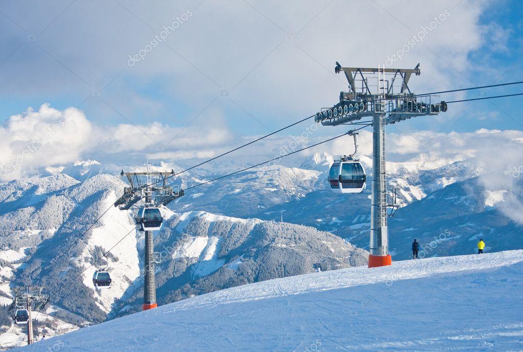 Ski resort Zell am See. Austria