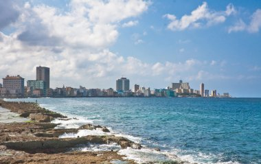 Waterfront Macelon. Havana, Cuba
