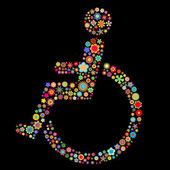Fotografie Behindertenschild