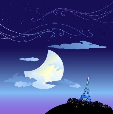 Eiffel Tower at dusk