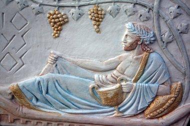 Bas-relief of Bacchus