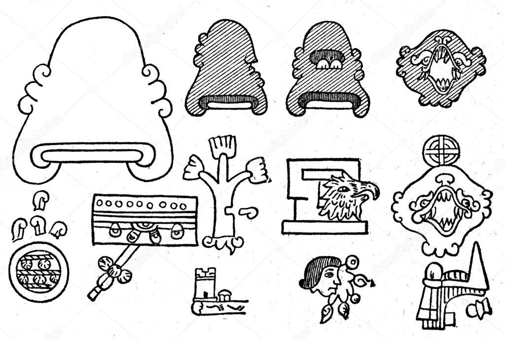 jeroglífico mexicana — Fotos de Stock © igorgolovniov #11867801