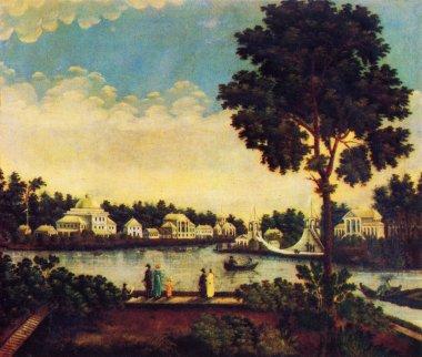Stepan Galktionov - View from Kamenniy Island to Krestovsky and