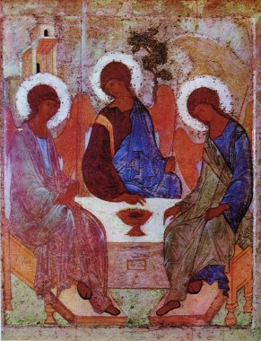 Trinity icon by Andrei Rublev