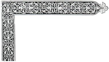 Venetian book decoration, border, 1478