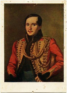 Mikhail Lermontov, antique postcard