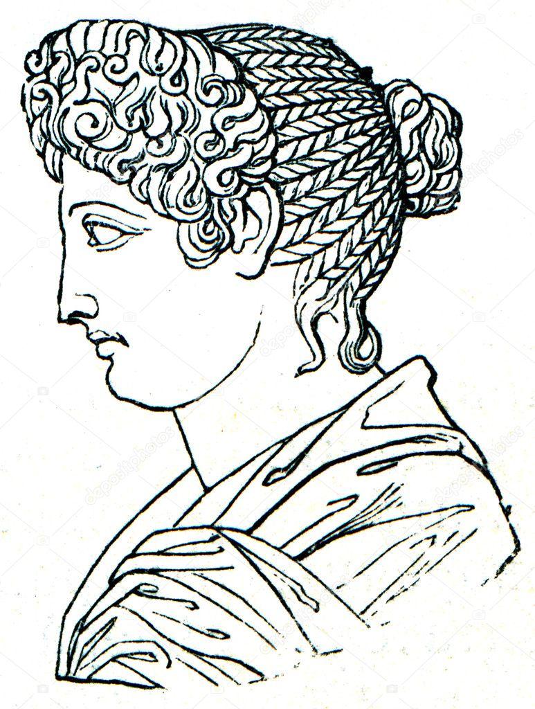 Damskie Fryzury Starożytnego Rzymu Zdjęcie Stockowe