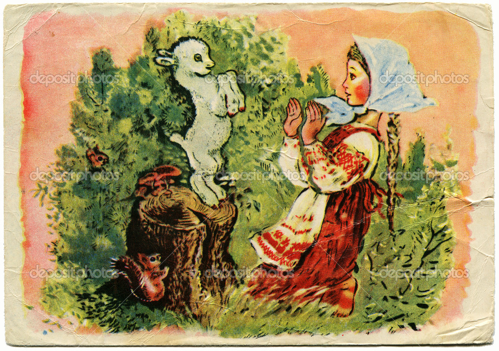 Picture of the artist Eugene Charushin, illustration to a fairy