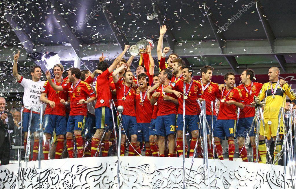 93a7934866 Espanha - a vencedora do uefa euro 2012 — Fotografia de Stock ...