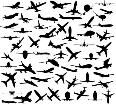 Silhouette of airplanes