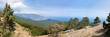 South part of Crimea peninsula, mountains Ai-Petri landscape. Uk