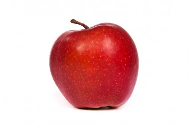 A shiny red apple isolated on white