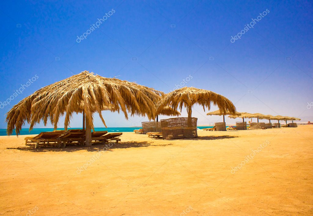 Wonderful beach in the Egypt.