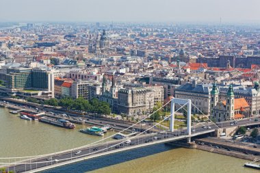 View of the city of Budapest, the capital of Hungary, from height of bird's flight
