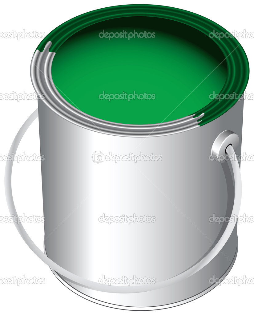 En el bote de pintura vector de stock vipdesignusa for Bote de pintura precio