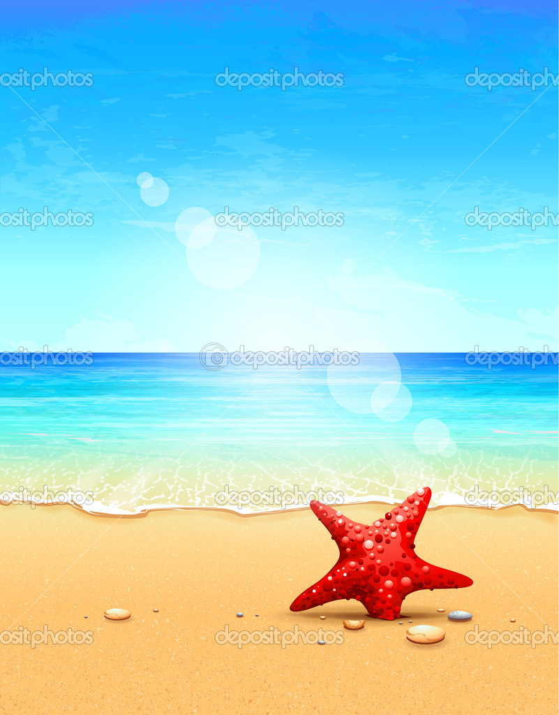 Seascape vector illustration