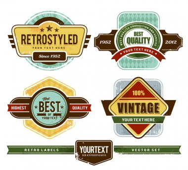 Grunge retro badges