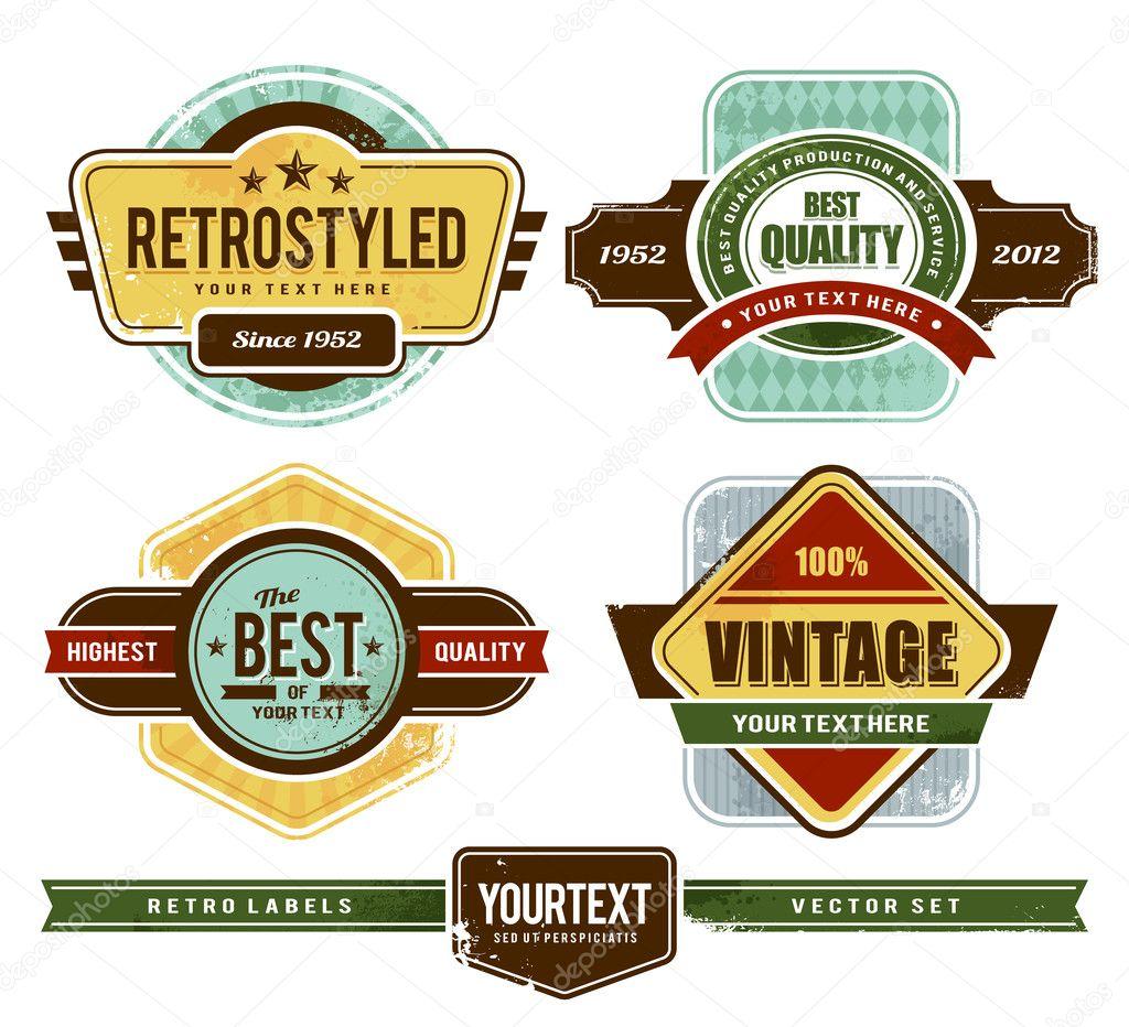 Grunge retro badges