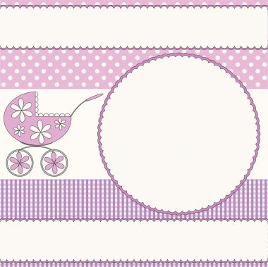 Baby girl pink background