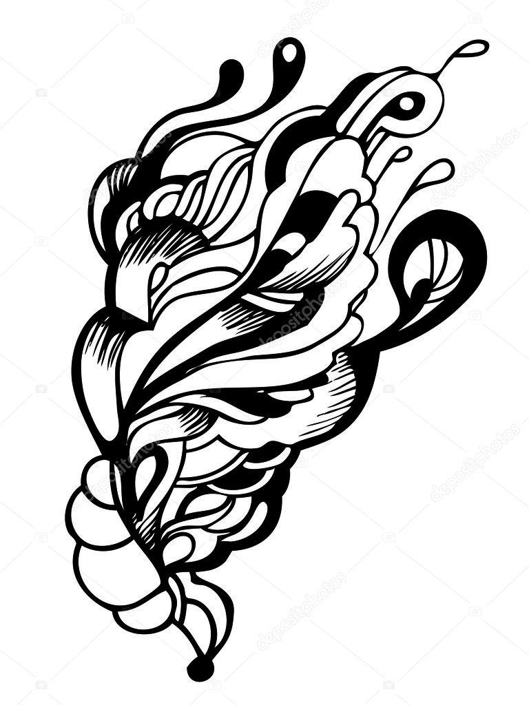 Abstrait design graphique en noir et blanc image vectorielle 11136463 - Coussin graphique noir et blanc ...