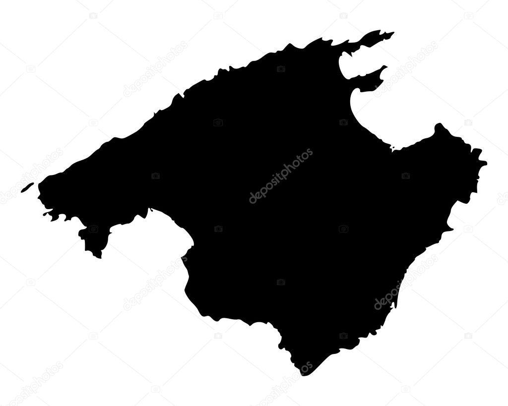 Mallorca Karte Umriss.Mallorca Stockvektoren Lizenzfreie Mallorca Illustrationen