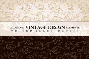 Vector vintage wallpaper. Gift wrap. Floral background with orna