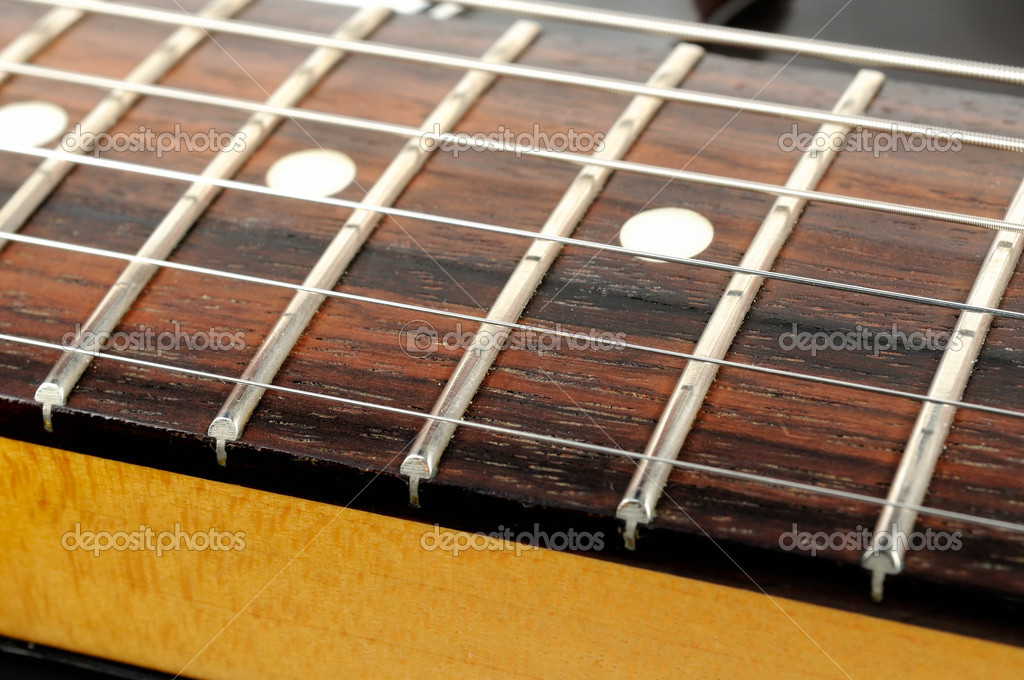 A Close Up Of Electric Lead Guitar Fterboard With Strings Photo By Digifuture