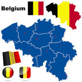 Photo Belgium vector set.