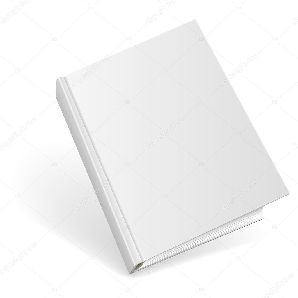 Hard Cover Book And Paper Back ~ Blank hardcover book — stock vector tuulijumala