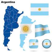 Argentina vector set.