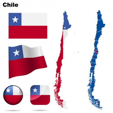 Chile vector set.