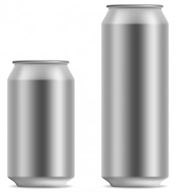 Blank beer can