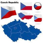 Česká republika vektorové sada
