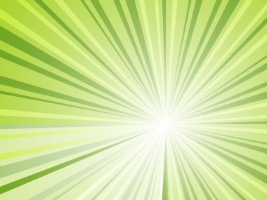 Abstract green rays background