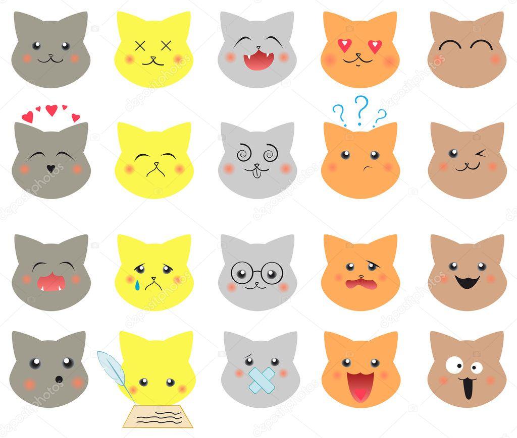 Картинки для детей кот эмоции