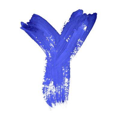 Blue handwritten letters