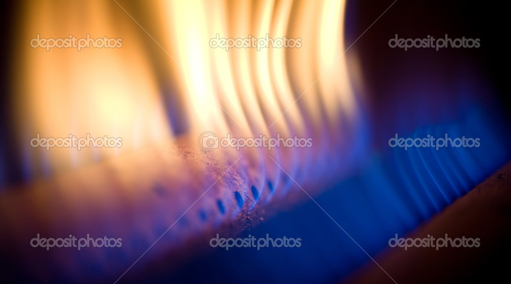 Flame of a gas torch