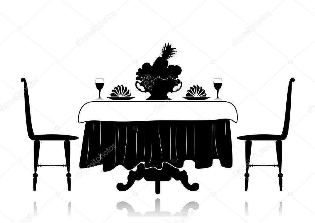 Restaurant Little Table Stock Vector 169 Leonikonst 12382801