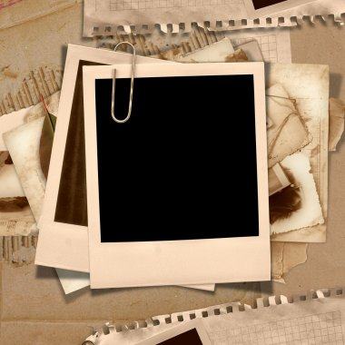 Vintage background with polaroid frame