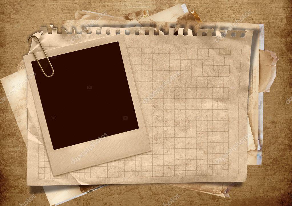 Marco de polaroid vintage con espacio para texto o fotos - Marcos vintage para fotos ...