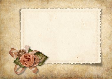Beautiful vintage card for congratulations or invitation