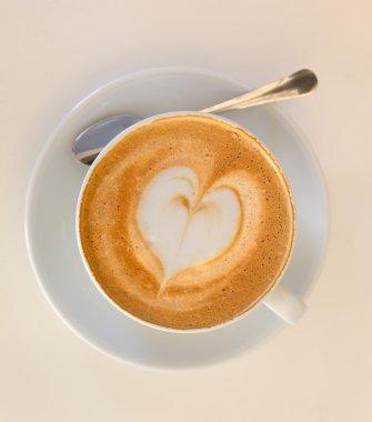 Cappucino with heart shape foam