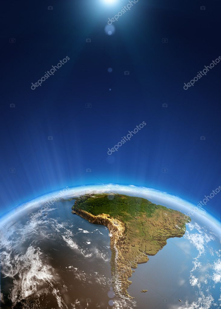 South America space view