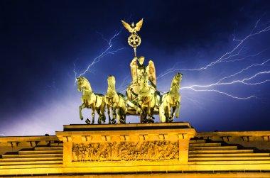 Sky above Quadriga Monument, Brandenburg Gate in Berlin