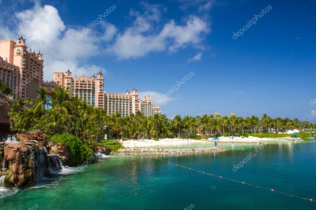 Atlantis Hotel on Paradise Island in Nassau,Bahamas.