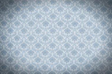 Blue elegant vintage wallpaper texture stock vector